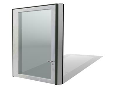 porta em vidro duplo para inserir persiana